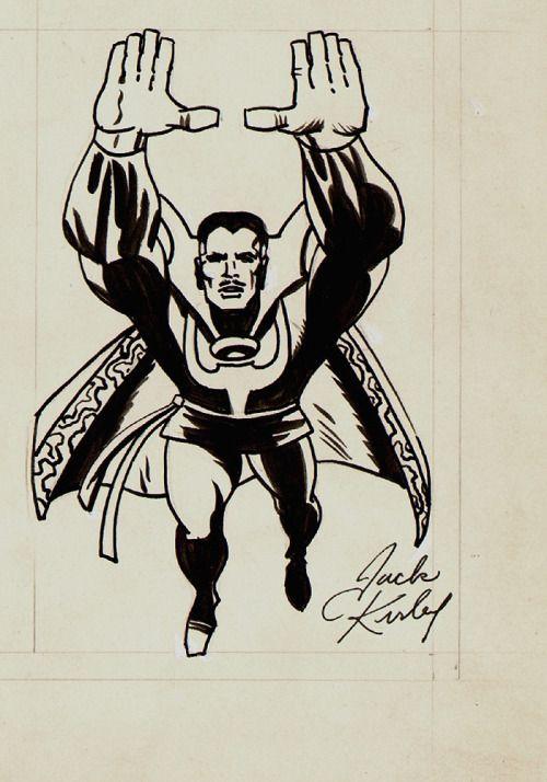 """seanhowe: """" Jack Kirby's version of Steve Ditko's Doctor Strange. """""""