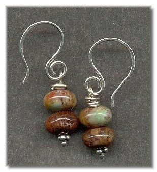 Sterling Silver and Rainbow Agate Beaded Drop Earrings. $18.00, via Etsy.