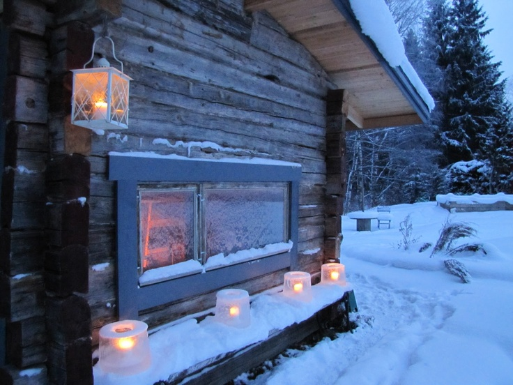 Cold winter and hot Sauna