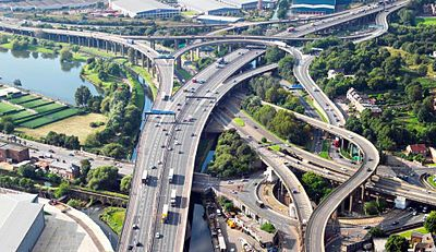 SPAGHETTI JUNCTION | GRAVELLY HILL | BIRMINGHAM | WEST MIDLANDS | ENGLAND: *Official Name: Gravelly Hill Interchange; Opened: 24 May 1972; Junction 6: M6 & A38[M] Aston Expressway*