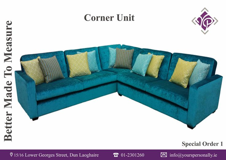 Bespoke Corner Sofa. Custom made in Yours Personally, Dun Laoghaire.