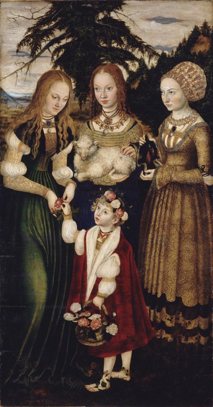 LUCAS CRANACH (1472 - 1553) - St Catherine Altarpiece - 1506.