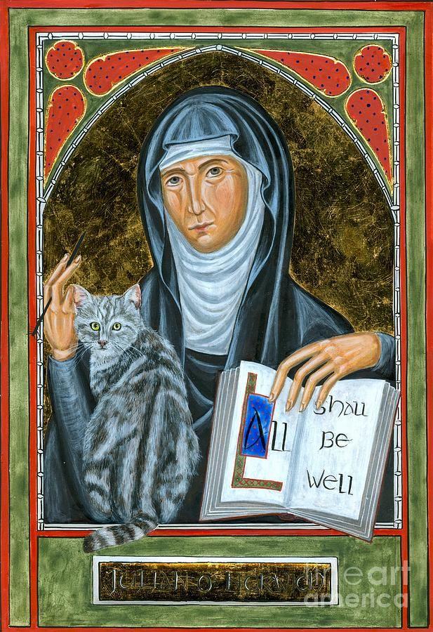 Icon Of Julian Of Norwich Painting  - Icon Of Julian Of Norwich Fine Art Print