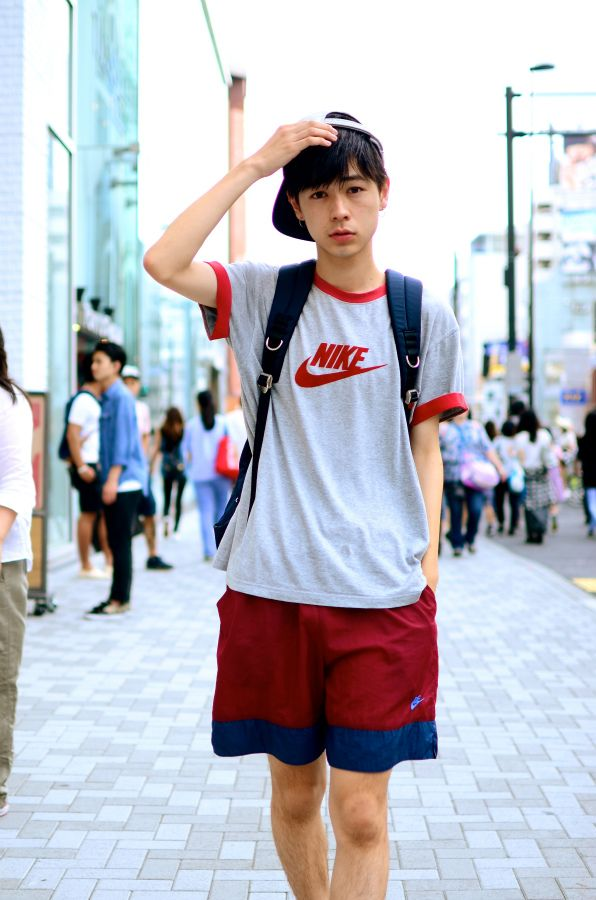 Tops - NIKE / Bottoms - NIKE / Shoes - Vans / Cap - yotsuba / Back pack - UNDER COVER *クレジット記載商品は全て『dude』にてお買い求め頂...