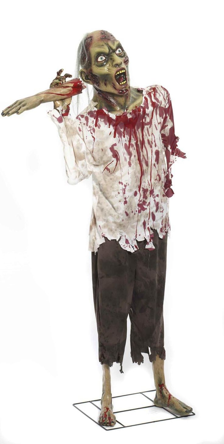 zombie halloween prop brand new zombie also has a shredded white shirt and - Zombie Halloween Decorations