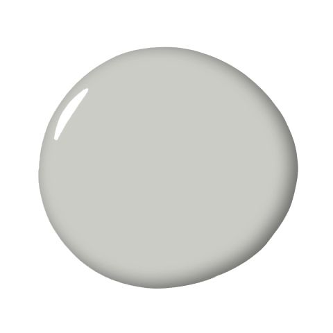 "Stonington Gray, Benjamin Moore ""I've found that this hue looks pure and fresh at any time of day or in any type of space. It's not too dark, not too light…it's just right."" - Caitlin Murray"