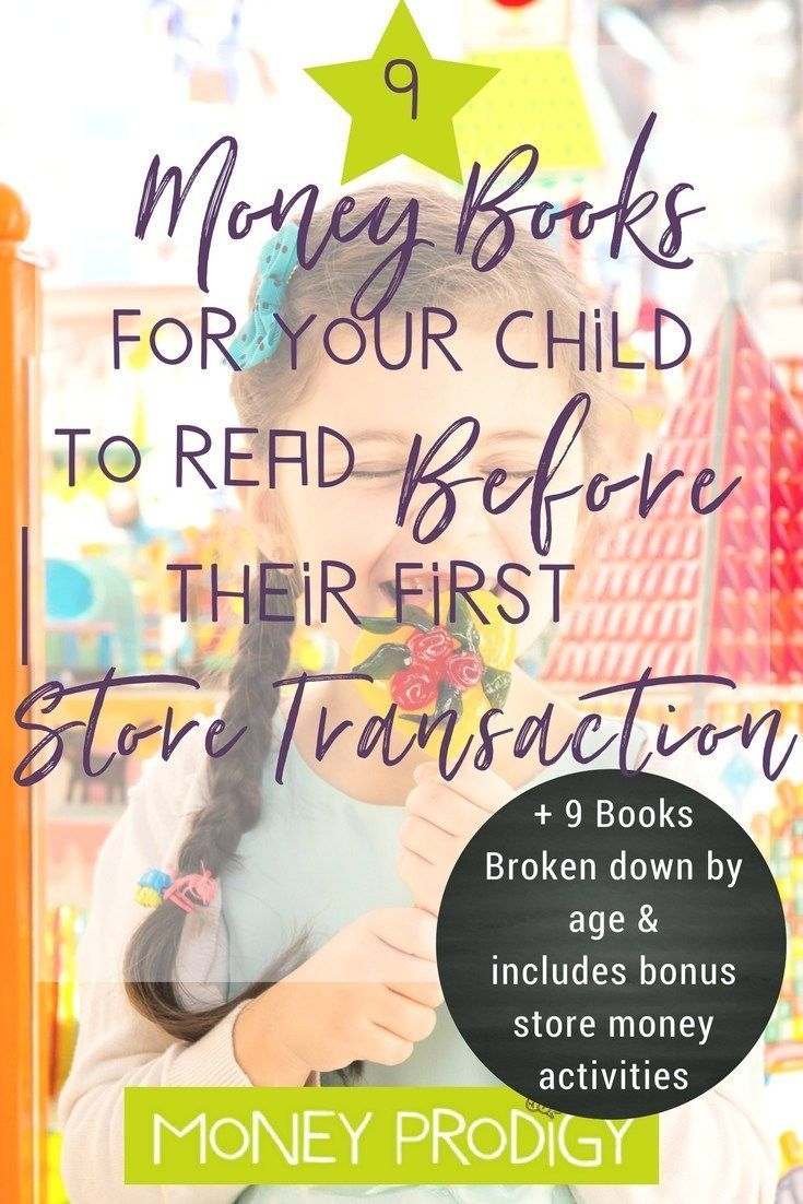 Move on from pretend store play + cash register games for kids. Use these 9 books & the bonus store money activities to help your child make their first store transaction! How exciting. |  http://www.moneyprodigy.com/9-money-books-read-kid-ready-first-sto