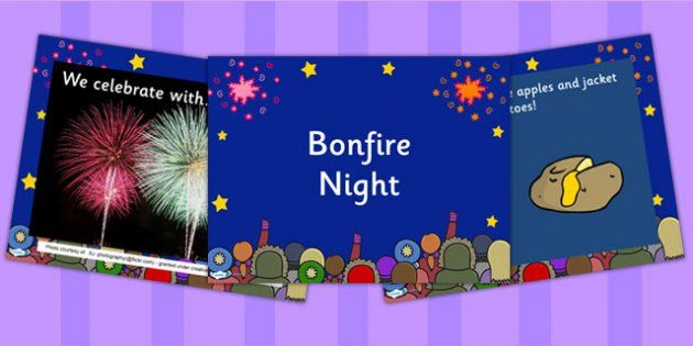 EYFS Bonfire Night Information Powerpoint - fireworks, EYFS