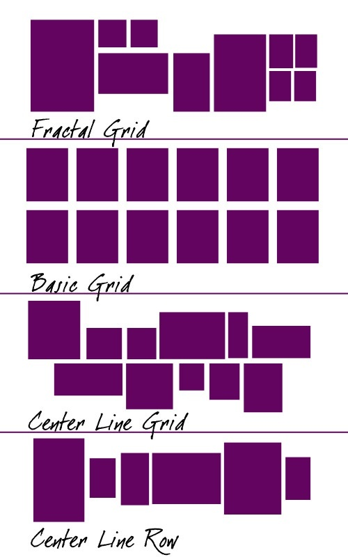 awesome ways for picture arrangements....Maybe i could figure something like…