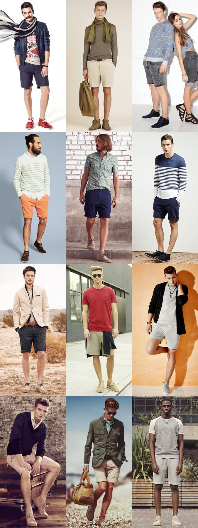Men's Summer Style: Shorts with Boots Outfit Inspiration Lookbook