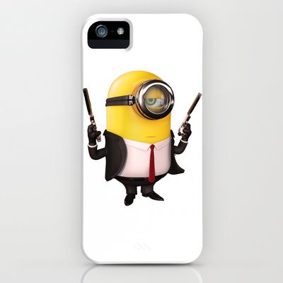 Hitman Minion iPhone & iPod Case by Harry Martin