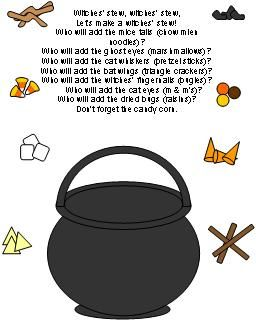 """Witches' Brew"" Snack (free; from Making Learning Fun)"