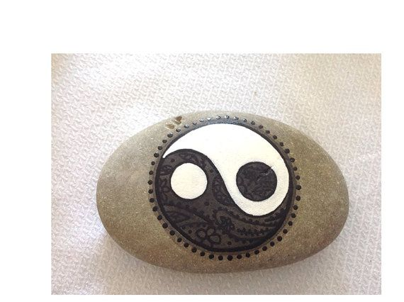 Hey, I found this really awesome Etsy listing at https://www.etsy.com/listing/186627738/hand-painted-rock-stone-yin-yang-feng
