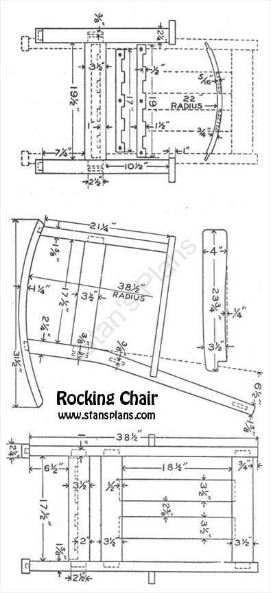 rocking chair plans | Rocking Chair Plans - All Free Plans at Stans Plans