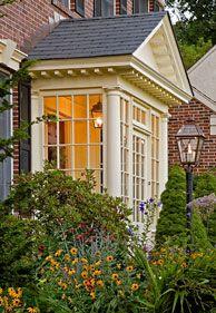 Enclosed Portico - I like the windows!                                                                                                                                                                                 More