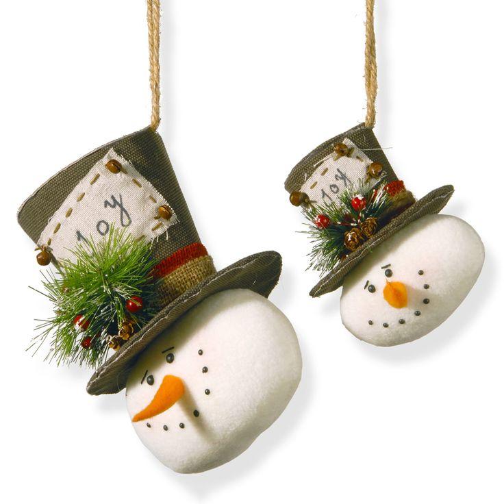 Snowman christmas ornament sets