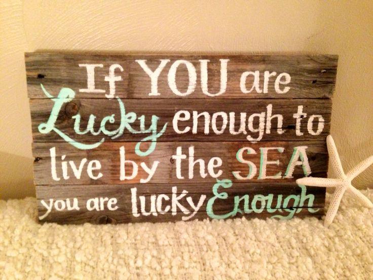 Handpainted beach decor...love!