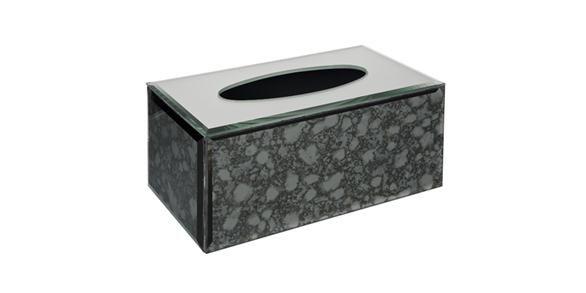Glamour Tissue Box Dark Grey 24cmLx13cmWx11cmH