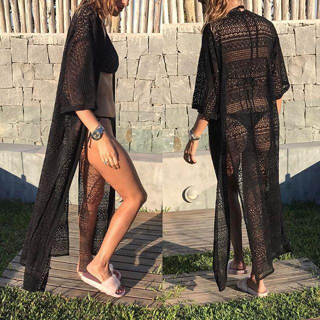 kimono encaje de algodón 👙  #summer #bikinis #salidasdebaño #bikininegra  @robertabasics  COLORES: negro, natural, seda estampada  YA VOLVIO EL SHOWROOM A SU HORARIO HABITUAL !  #ROBERTASHOWROOM:  Gorriti 6046, Piso 205. De lunes a sabados de 15.30 a 19.30. Palermo, capital federal.  # Para envíos podes pasarnos tu pedido por mensaje privado o a info@robertabasics.com