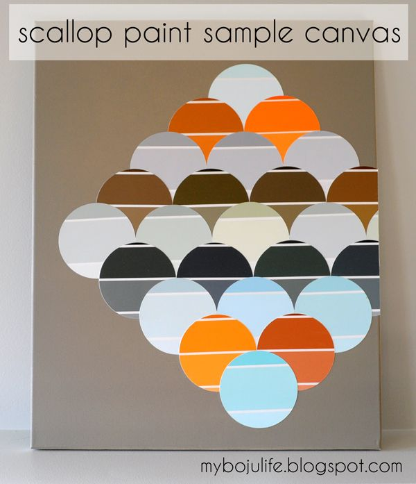 My Boju Life: #DIY scallop #paint sample canvas wall art