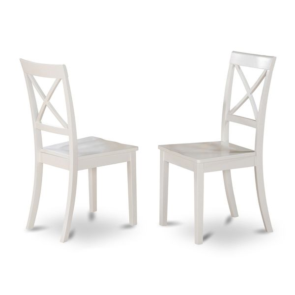Boston X-back Wooden Dining Room Chair (Set of 2)