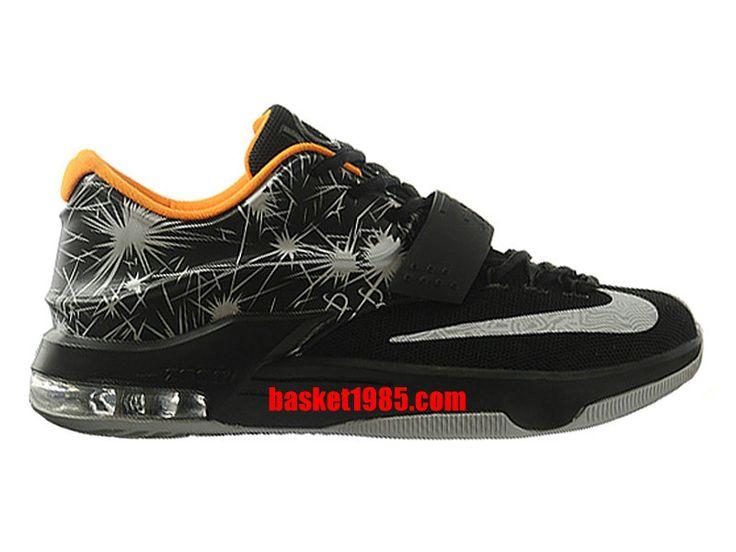 Chaussures Basket Nike Kd 7/VII Pas Cher Pour Homme Noir Orange 653996-ID4