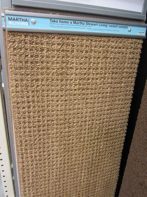 Martha Stewart carpeting at Home Depot that looks like a sisal rug (style: Hillwood)