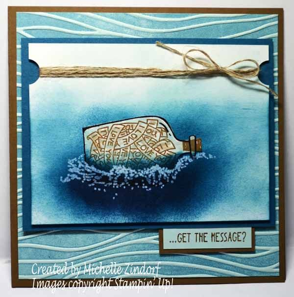 Message in a Bottle - Stampin' Up! Card created by Michelle Zindorf