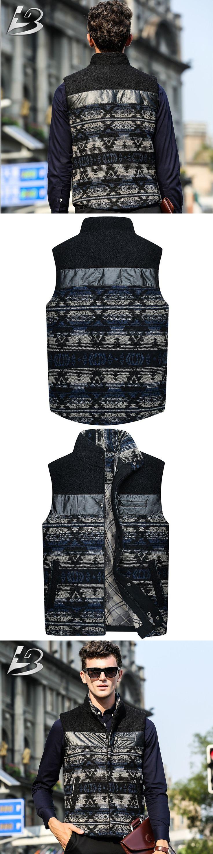 Autumn and winter men wool vest thicken casual plus size vest outwear