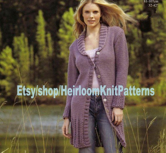 "Entrelac Ladies Woven Blanket Coat//Jacket Chunky Wool 34/"" 44/"" Knitting Pattern"