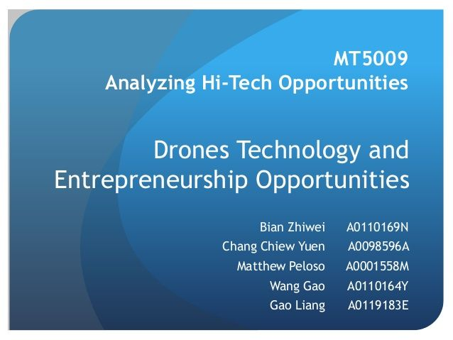 Drones and their Increasing Number of Applications by Jeffrey Funk: Creating New Industries via slideshare