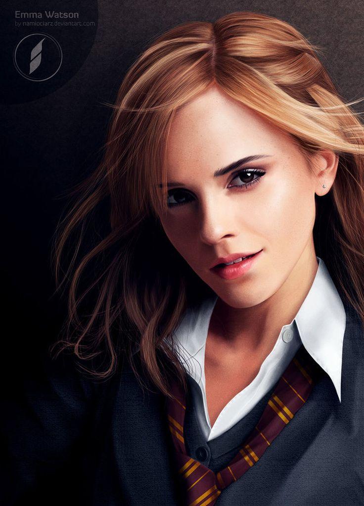 Just an image of Emma Watson. Not a photograph. http://namiociarz.deviantart.com/