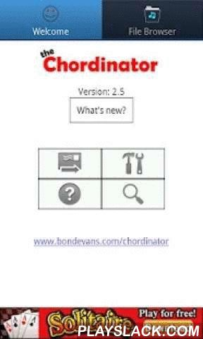 The Chordinator  Android App - playslack.com ,  The Buskers FriendLatest!! - Now supports printing and save as pdf.Chordinator lets you view, organise, edit, print, share and transpose guitar chords/tab sheets. Now with chord/tab download. Not tied to any websites. Download chords/tab to disk and use the apps built in editor.Use the full screen mode and auto scroll leaving your hands free to focus on the music. All songs are stored on the phone so no need for an Internet Connection, and…