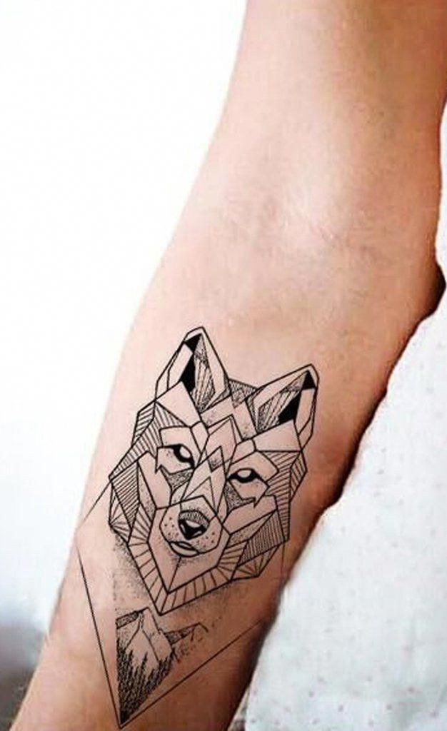Geometric Wolf Wrist Tattoo Ideas For Women Cool Unique Fox Animal Forearm Tat Ideas Geomet Geometric Tattoo Pattern Geometric Tattoo Geometric Wolf Tattoo