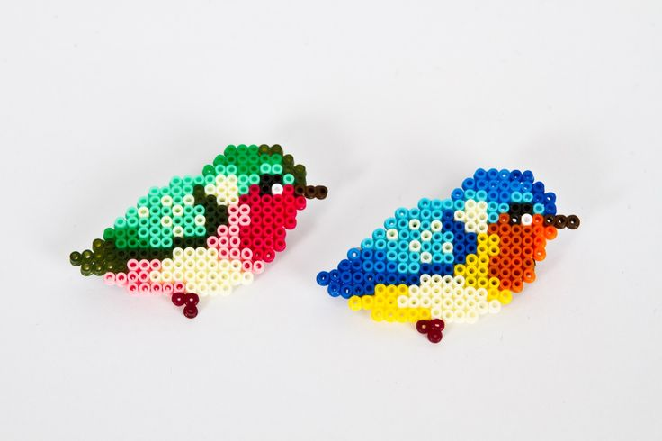Hama bead broche from Denicheuse