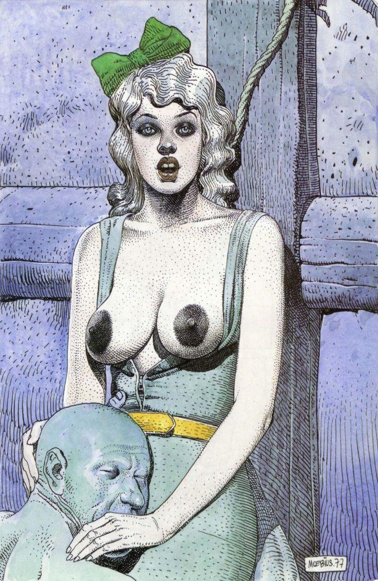 Metal Hurlant cover #Moebius #illustration #comics