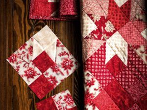Ruby Fleur Corner Lot Quilt Kit - for quilting beginners