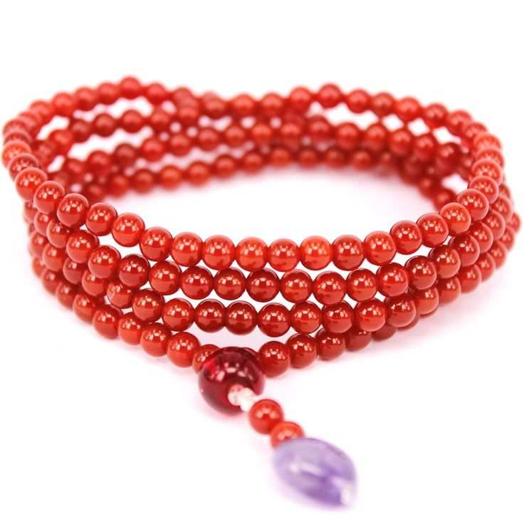 GUOXITANG Brand 170 44mm Women's Red Agate Carnelian Bracelet Necklace Fashion Heart Shape Amethyst Pendant. Agate Wrap Bracelet Necklace. Adjustable Size. Made Of Genuine Red Agate. All Product Are Handmade.
