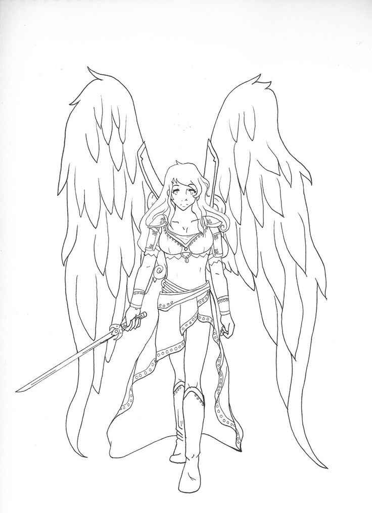 warrior angel coloring pages - photo#11