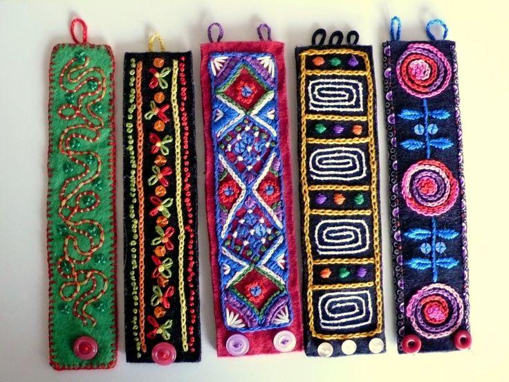Anke Nina embroidered bracelets