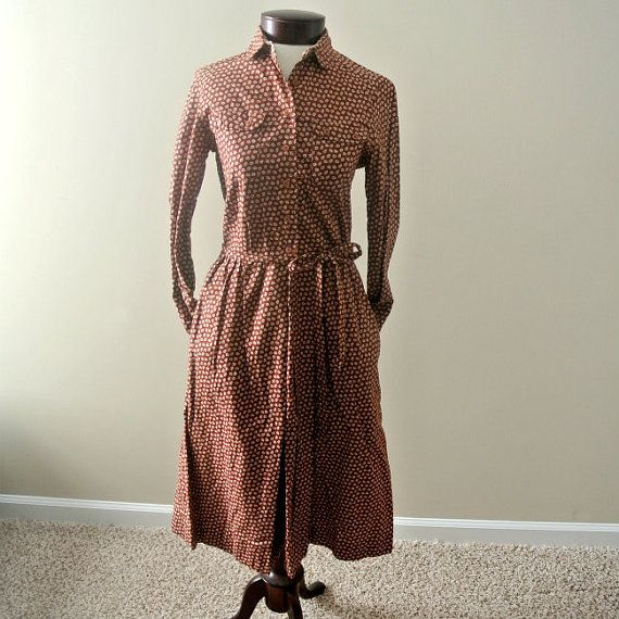Half Off Clearance Sale Rust Colored Fall Dress by Lanz Original with Belt Included