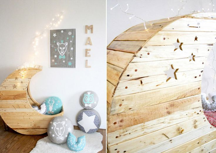 Дизайнерская колыбель сделанная из досок от поддонов #мебель #паллеты #поддоны
