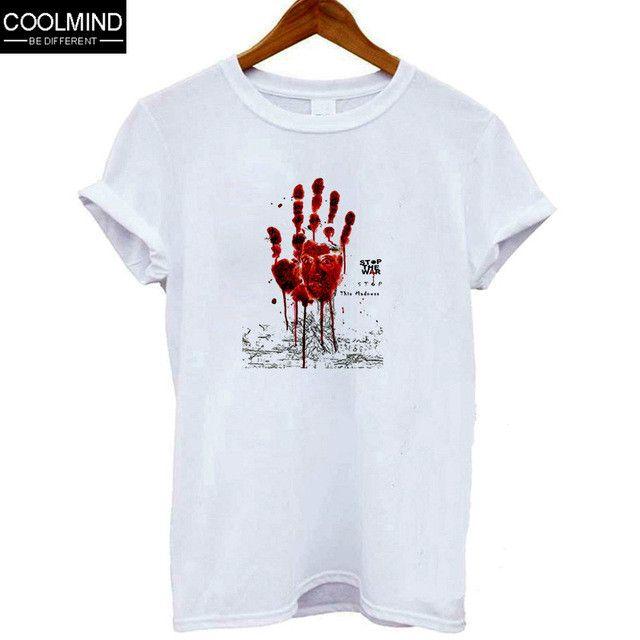 Top quality cotton slim o neck the walking dead print T shirt for women short sleeve women Tshirt