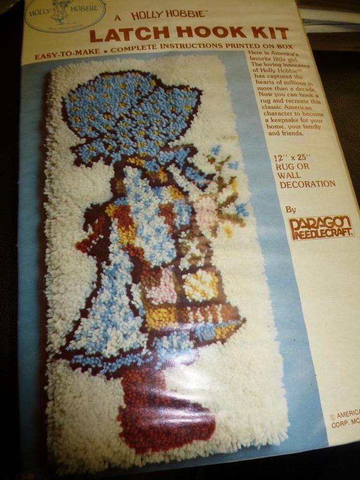 Vintage PARAGON HOLLY HOBBIE LATCH HOOK KIT 9086K Rug Wall 12x25 Sealed