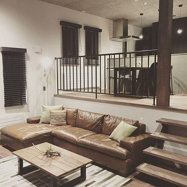 Chikashiさんの、Lounge,観葉植物,照明,雑貨,アンティーク,カフェ風,フェイクグリーン,男前についての部屋写真
