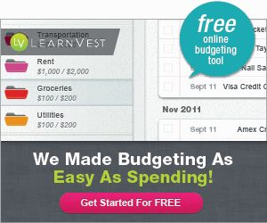 free online budgeting tool from learnvest