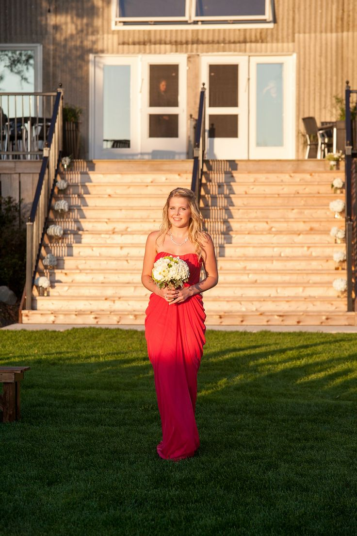 Daughter Maid of Honor- Beautiful Pink Dress-Barn Wedding