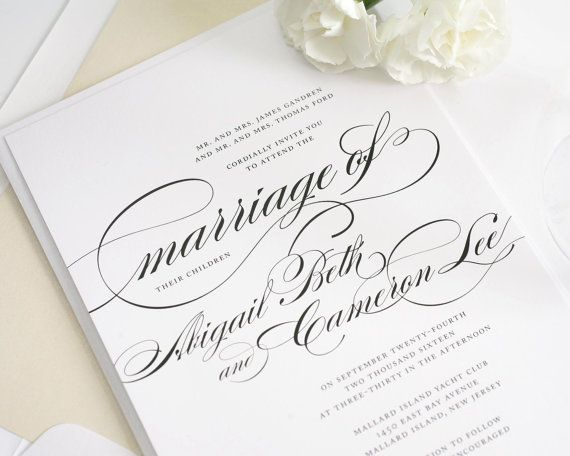 38 best formal wear images on pinterest formal wear invitation formal wedding invitations in black and white on pearl shimmer luxury cardstock marriage design sample stopboris Image collections
