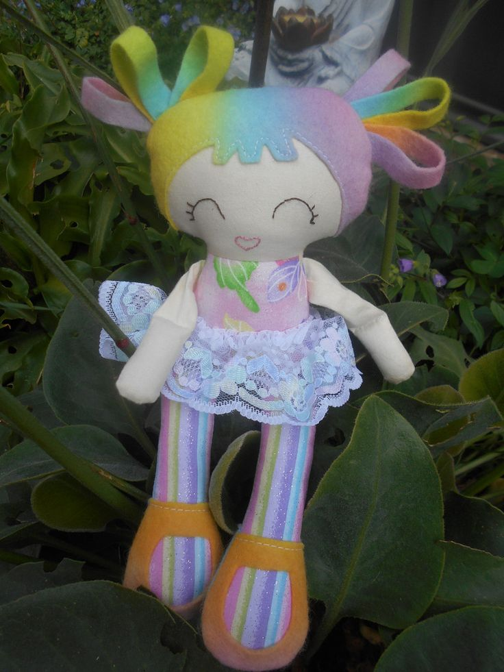 Small Rainbow Soft Doll