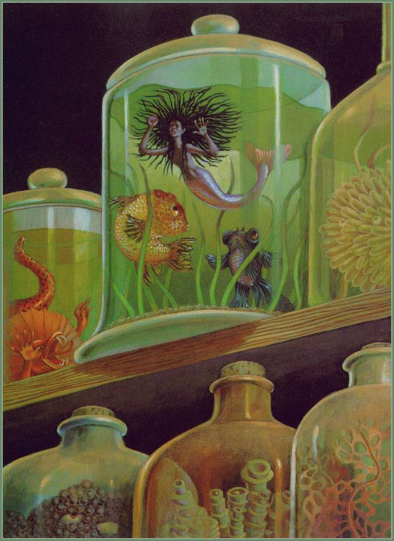 Illustration by Leo and Diane Dillon, from Virginia Hamilton: Her Stories (African American Folktales, Fairy Tales and True Tales)   The Mer-Woman Out of the Sea